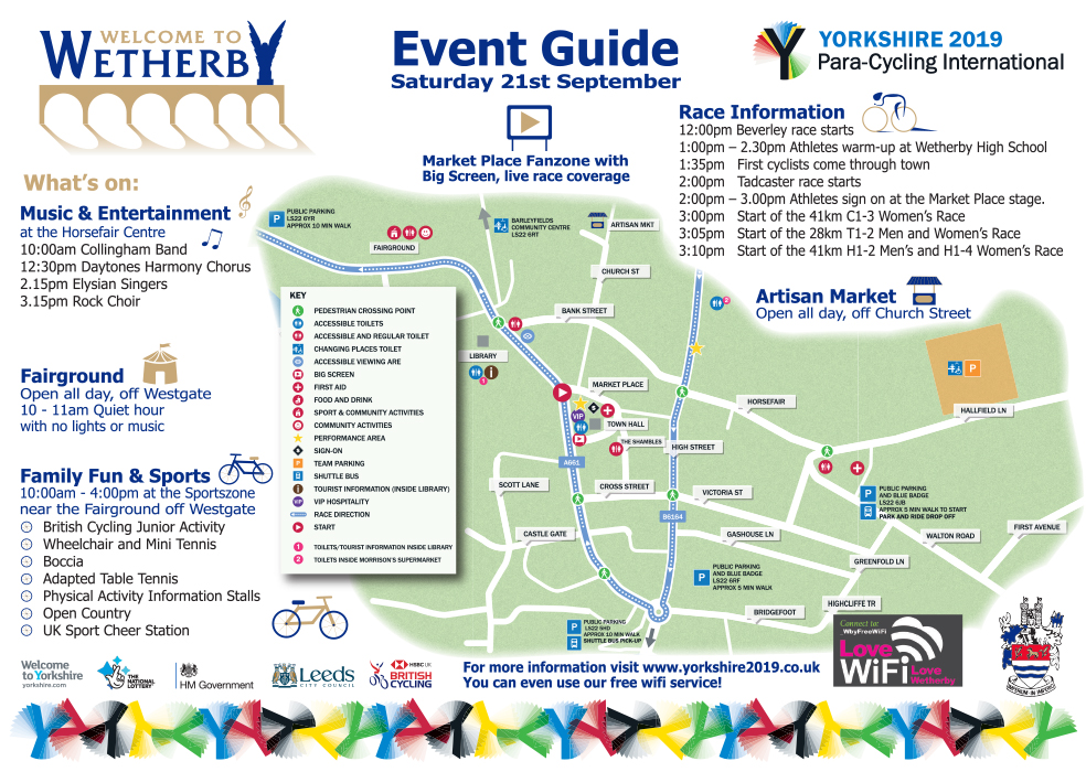 Yorkshire 2019 Para-Cycling International Route Map